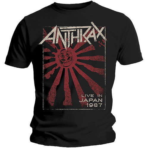 ANTHRAX - Live in Japan 1987 - OFFICIAL T shirt