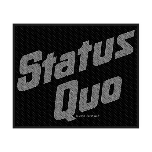 STATUS QUO - LOGO - OFFICIEL WOVEN PATCH