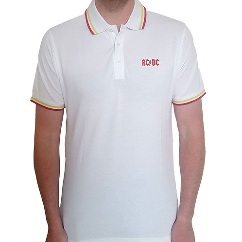 AC DC - Official Polo shirt - White