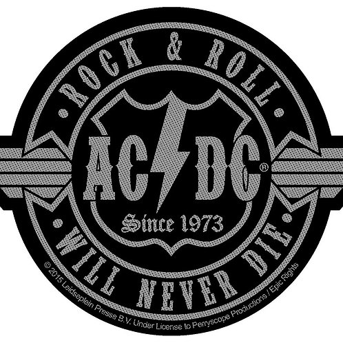 AC/DC - Rock & roll will never die - OFFICIEL WOVEN PATCH