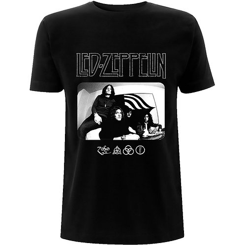 LED ZEPPELIN - ICON LOGO PHOTO - Official T shirt