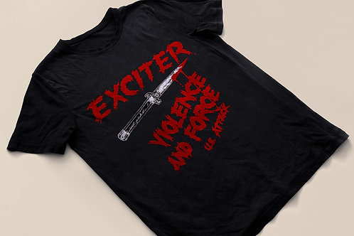 EXCITER - Violent And Force U.S. ATTACK 84 - T Shirt