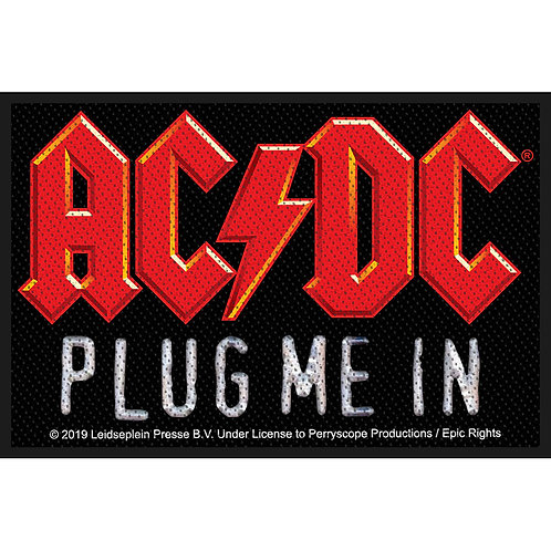 AC/DC - Plug Me In  - OFFICIEL WOVEN PATCH