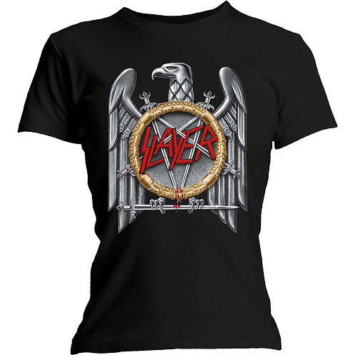 GIRLY - SLAYER - Silver eagle - BLACK SHIRT