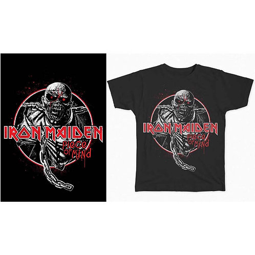 IRON MAIDEN - Piece Of Mind Circle - Official T shirt