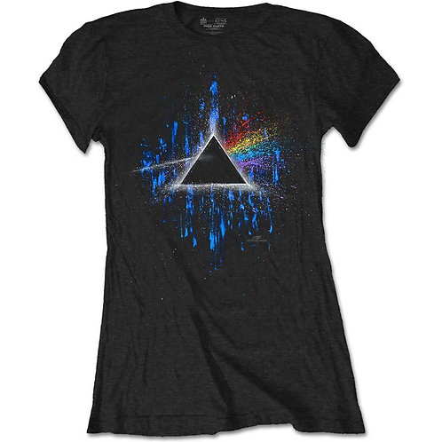 Girly PINK FLOYD - Dark side of the moon blue splatter