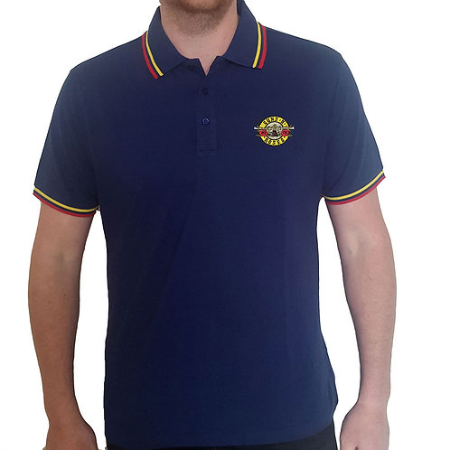 Guns n' roses - Official Polo shirt - Blue