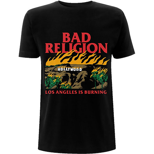 BAD RELIGION - L.A is Burning - Official T shirt