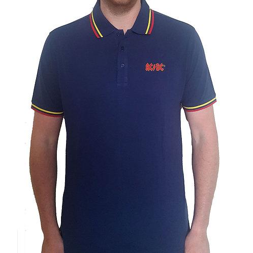 AC DC - Official Polo shirt - Blue
