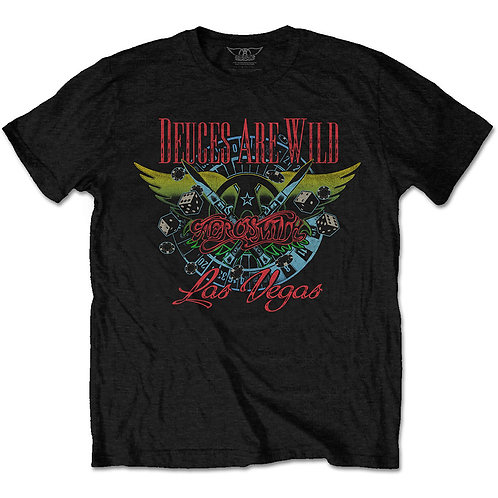 AEROSMITH - Deuces Are Wild Official T shirt