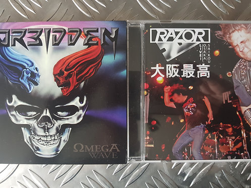 FORBIDDEN vs RAZOR BUNDLE - 2CD