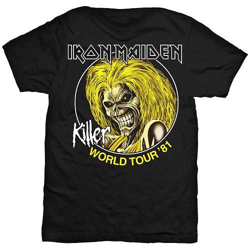 IRON MAIDEN - Killer World Tour' 81 - Official T shirt