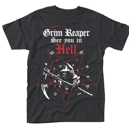 GRIM REAPER - Modern See You In Hell T shirt