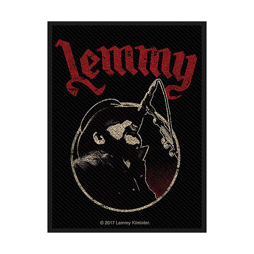 LEMMY - RED  - OFFICIEL WOVEN PATCH
