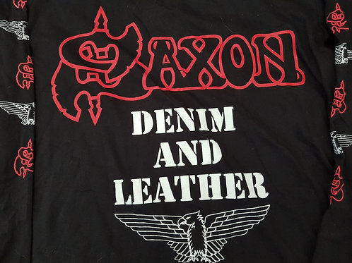 SAXON - Denim And Leather LONG SLEEVE - Size M