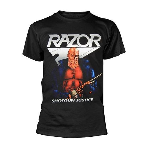 RAZOR - Shotgun Justice T shirt