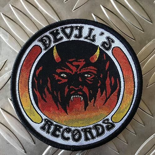 DEVIL'S RECORDS - Woven Patch