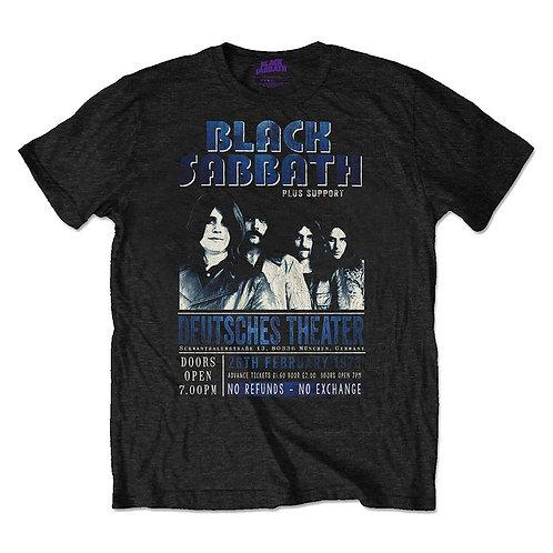 BLACK SABBATH - DEUTSCHES 73  - Official T shirt