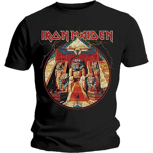 IRON MAIDEN - Powerslave Lightning Circles - Official T shirt