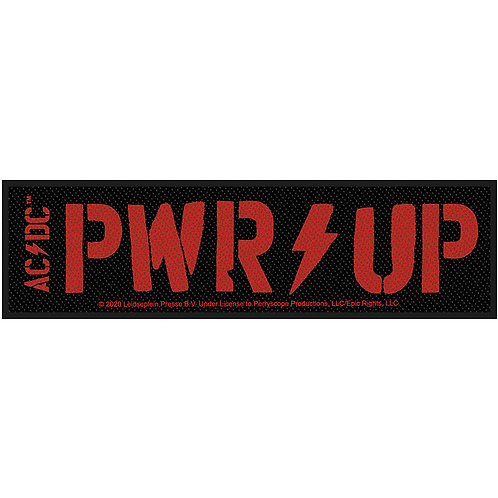 AC/DC - RED PWR UP  - OFFICIEL WOVEN PATCH