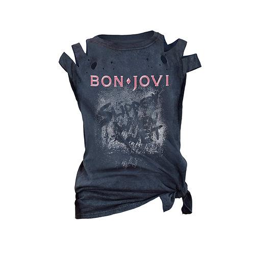 BON JOVI - Slippery When Wet Girlie - T shirt
