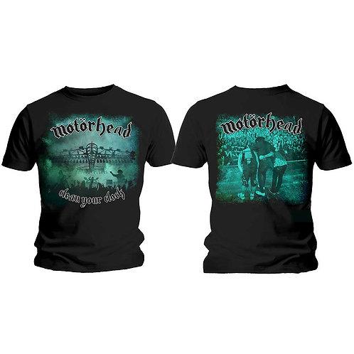 MOTORHEAD - Clean Your Clock/Color - T shirt