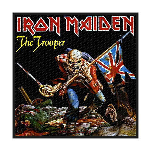 IRON MAIDEN - THE TROOPER - OFFICIEL WOVEN PATCH
