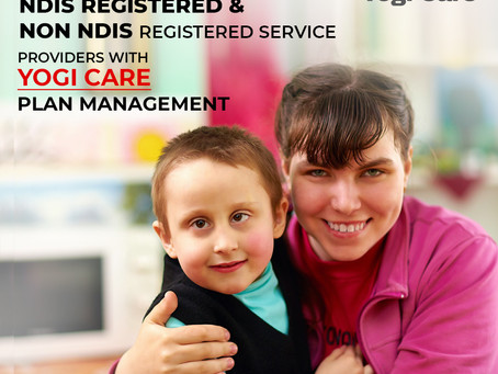 Support worker oversees and the NDIS