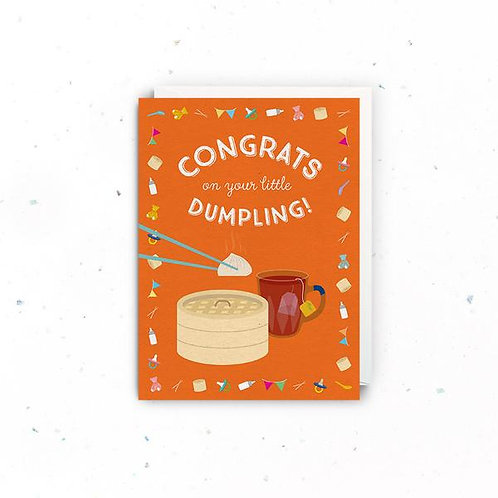 Congrats On Your Dumpling Greeting Card