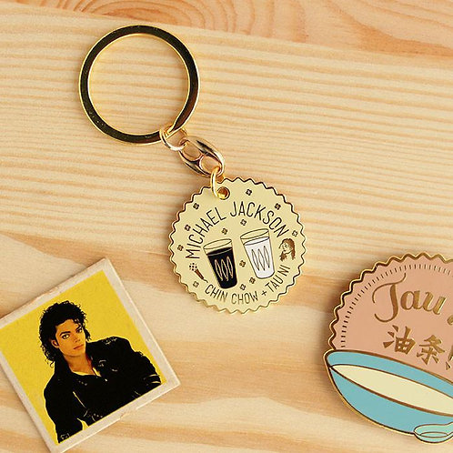 Michael Jackson keychain