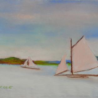 Ice Boats on Tivoli Bay