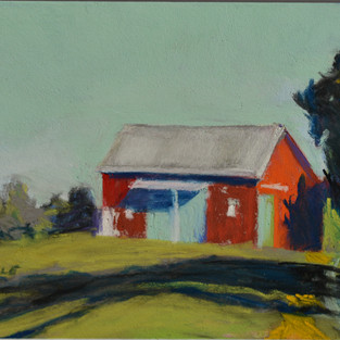 Portrait of a Barn with Blue Doors