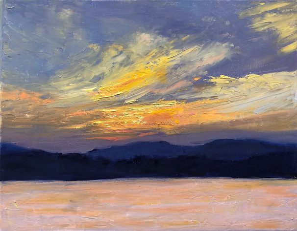 Sunset Over the Catskills