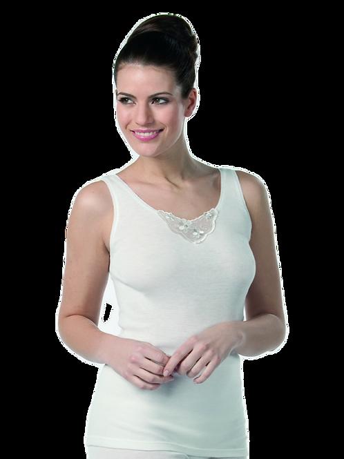 Helix Thermo Vollachsel Unterhemd mit Spitze