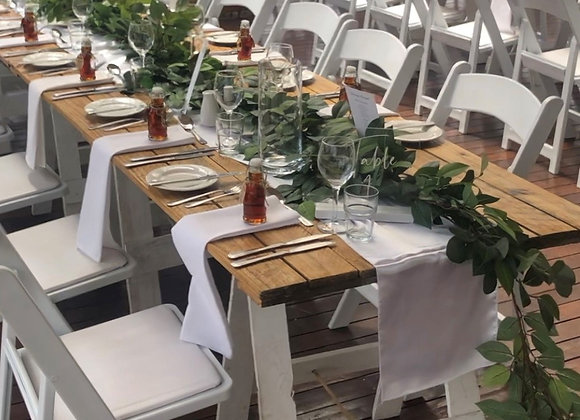 Greenery/floral table runners