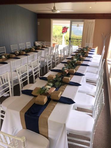Wedding set-up Blue Summit Cottages, Maleny