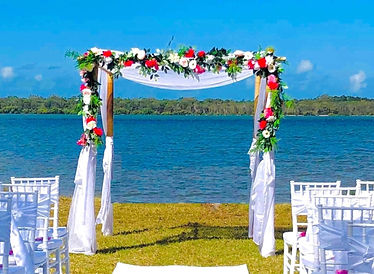 Double bamboo wedding arbour