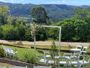 Ceremony at Byron Bay hinterland