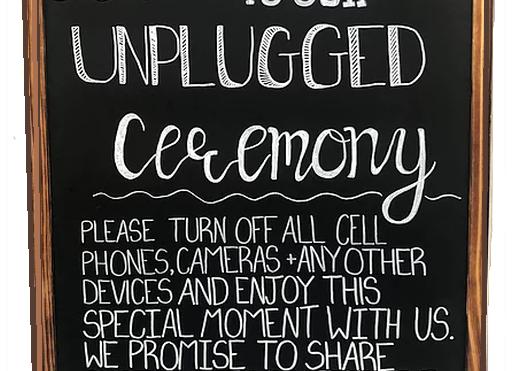 "Chalkboard ""Unplugged"""