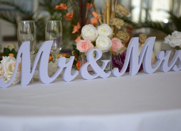 Centrepiece - Letters small