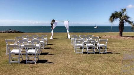 Wedding ceremony Raby Bay Foreshore