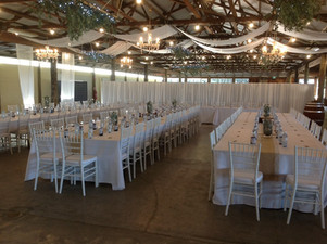 Reception styling, Samford Showgrounds Hall