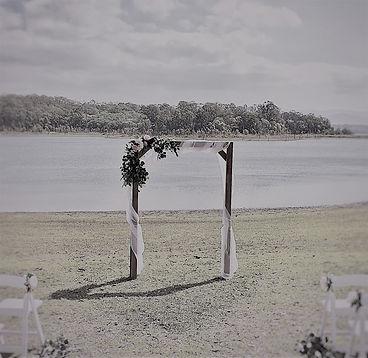 Wooden wedding arbour