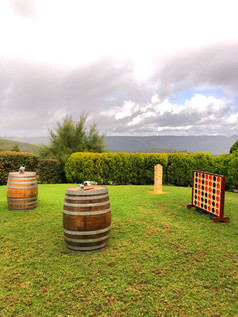 Giant games and wine barrels