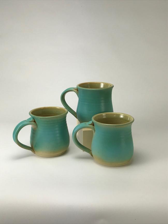 Short Aqua Mugs