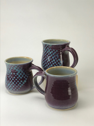 Short Purple Mugs