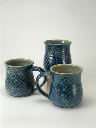 Blue Short Mugs
