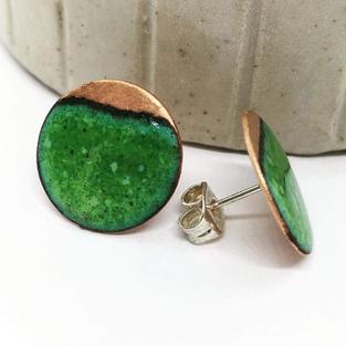 Green Copper - studs