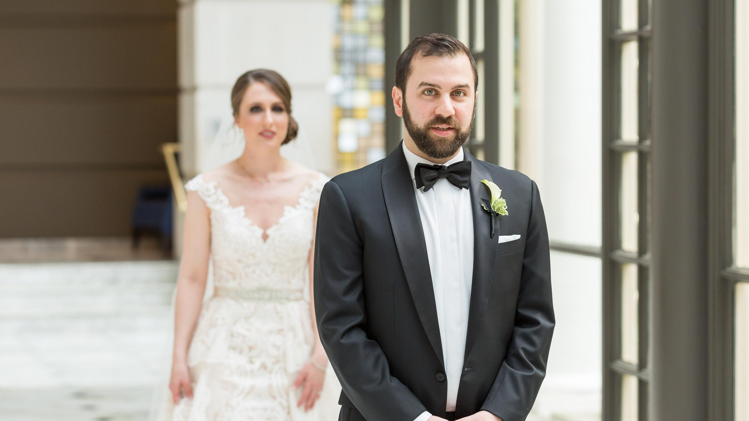 bride nearing her groom