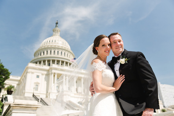 capitol and bride and groom portrait